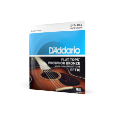 D'Addario Flat Tops Phosphor Bronze Regular Light 12-53
