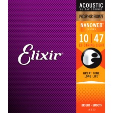 Elixir Phosphor Bronze Nanoweb 12-String Light 10-47