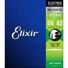Elixir Nickel Plated Steel Optiweb Super Light 9-42