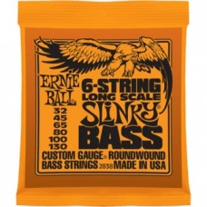Ernie Ball - Basse - 6-STRING SLINKY LONG SCALE NICKEL WOUND - .032 - .130
